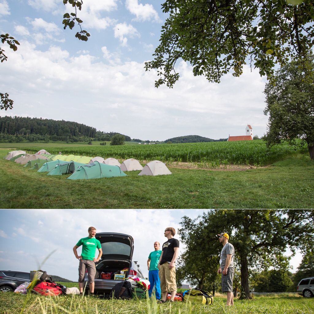 Vaude camp site near Friedrichshafen