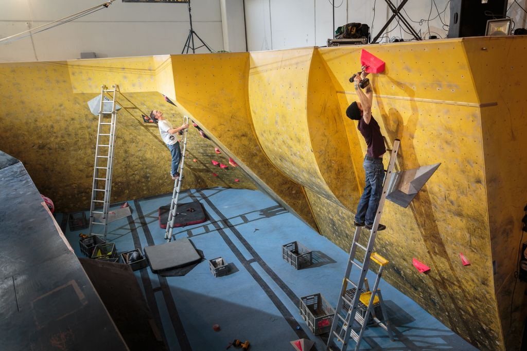 Kitka climbing Boulder cup routesetting